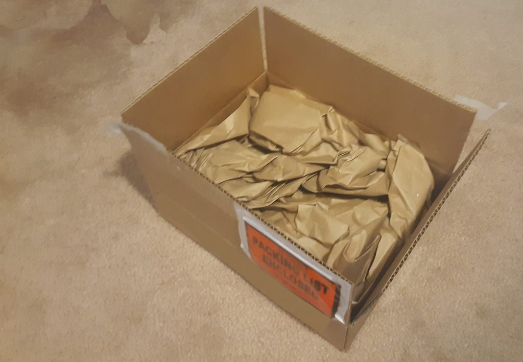 Opening of packaging with product, packaging waste